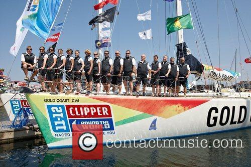 Goldcoast Clipper Round The World leaving Southampton in...