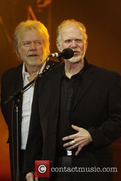 Randy Bachman and Fred Turner  accepting the...