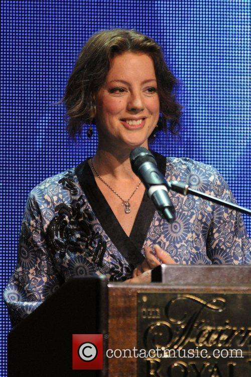Sarah McLachlan  accepting the Humanitarian Spirit Award...