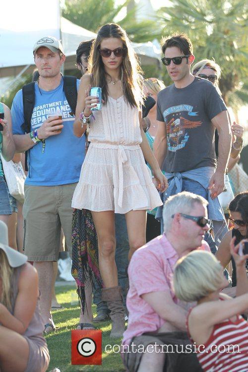 Alessandra Ambrosio Celebrities at the 2011 Coachella Valley...
