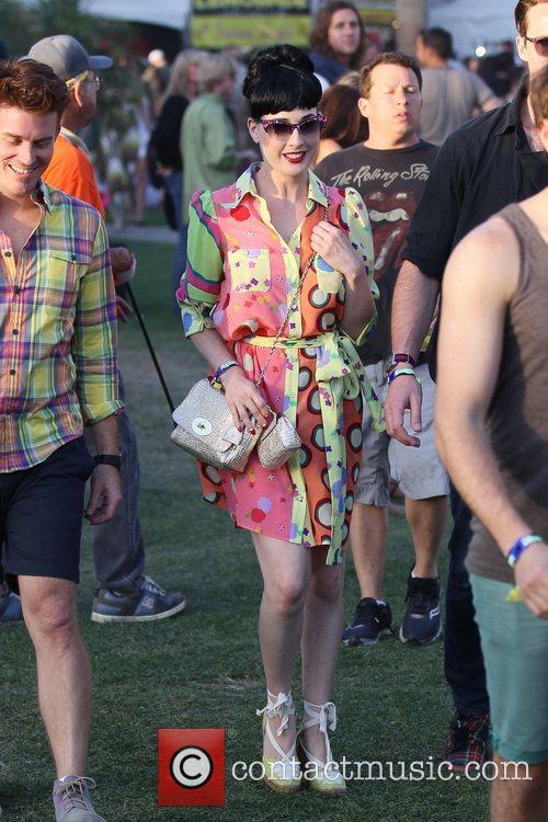 Dita Von Teese Celebrities at the 2011 Coachella...