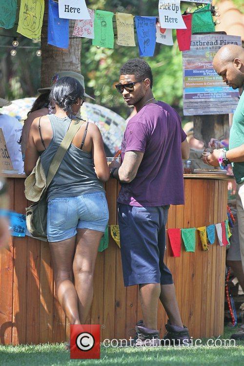 Usher Celebrities at the 2011 Coachella Valley Music...