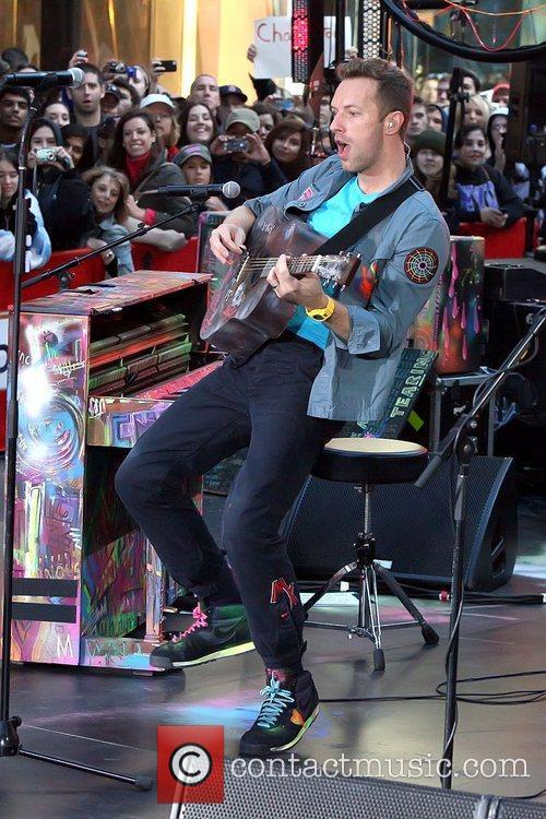 Chris Martin Coldplay performing on the 'Today' show's...
