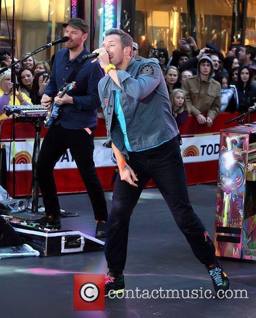 Coldplay performing live on the 'Today' show as...