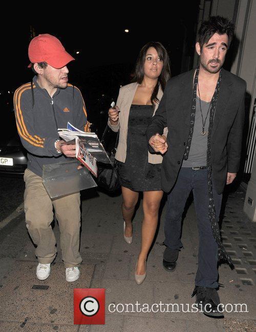 Colin Farrell lookalike James Martin is seen having...