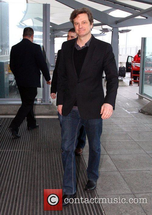 Colin Firth  arriving at the airport London,...