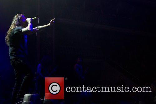 Devil Driver performing live at Coliseu dos Recreios....