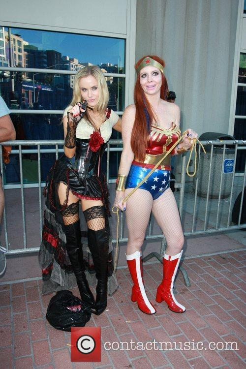 Phoebe Price, Paula LaBaredas and Wonder Woman 12