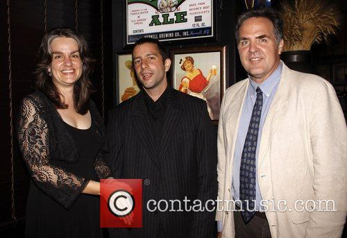Pam MacKinnon, Itamar Moses, Tim Sanford After party...