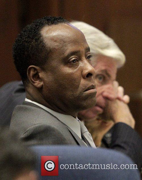 dr conrad murray looks on during his 5742486