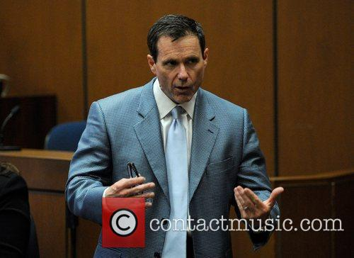 Defense Attorney Ed Chernoff addresses the jury during...