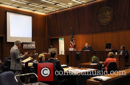 Defense Attorney J. Michael Flanagan speaks during redirect...