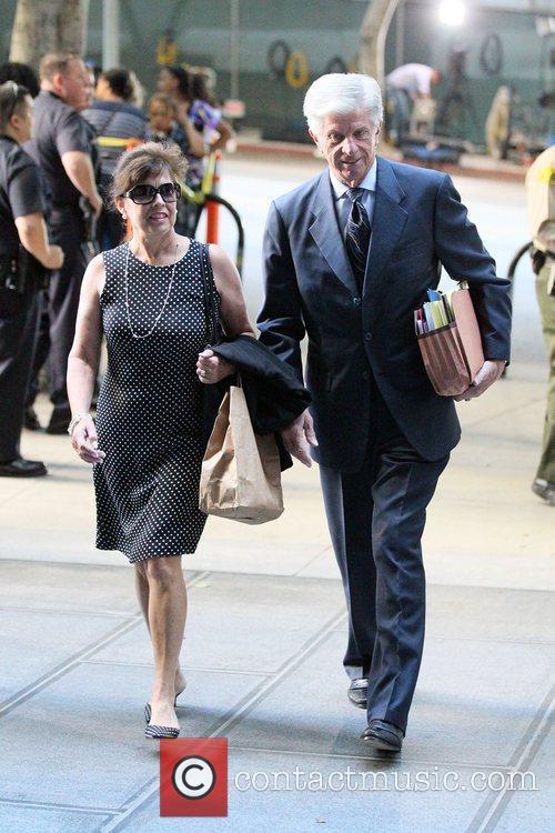 Defense Attorney J. Michael Flanagan arrives at Los...