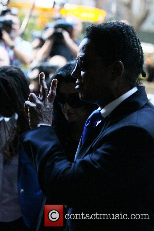 Jermaine Jackson arrives at Los Angeles Superior Court...