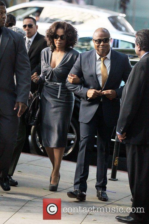 Janet Jackson and Randy Jackson arrive at Los...