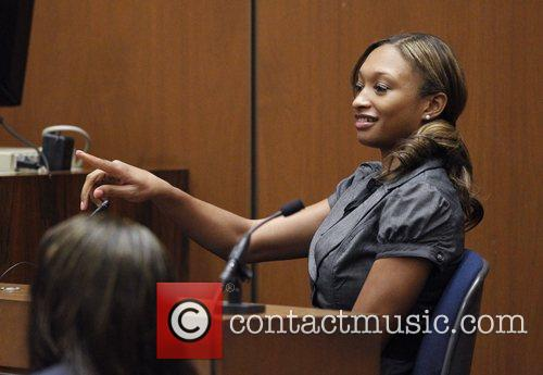 Prosecution witness Sade Anding testifies during Dr. Conrad...
