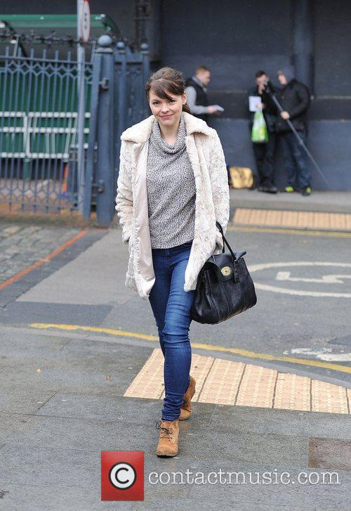 Kate Ford,  arrives at the Granada Studios...