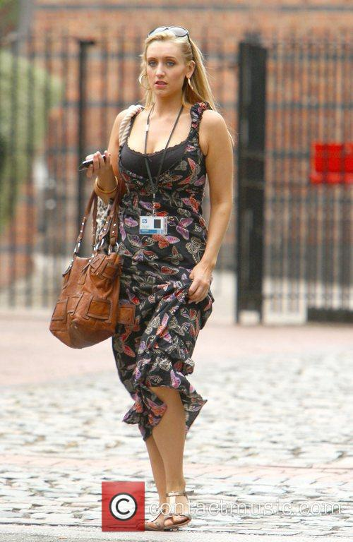 Catherine Tyldesley,  arriving at Granada Studios to...