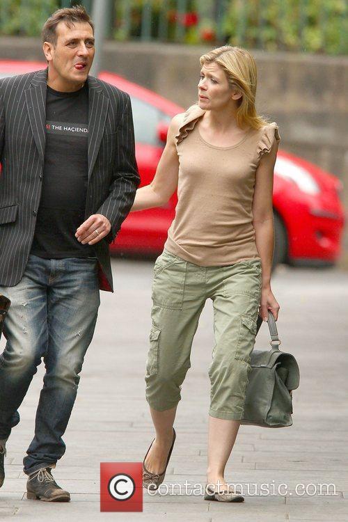 Chris Gascoyne and Jane Danson,  arriving at...