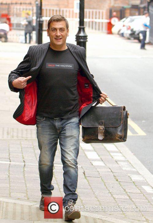 Arriving at Granada Studios to film an episode...