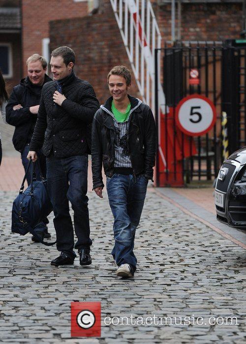 'Coronation Street' cast leaving the Granada Studios