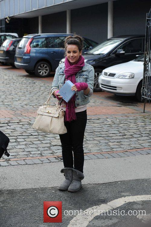 Leaving the Granada Studios after filming 'Coronation Street'
