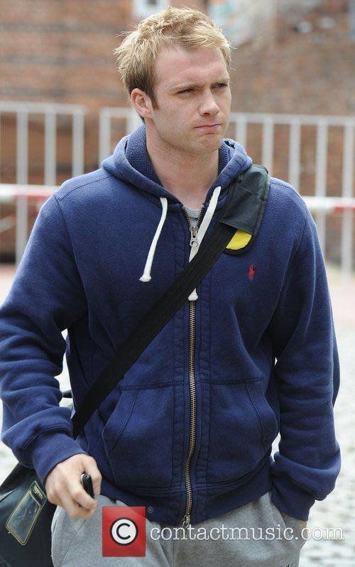 Chris Fountain 'Coronation Street' actors outside Granada Studios...