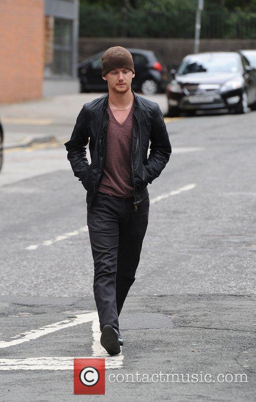 'Coronation Street' cast arriving at the Granada studios