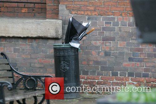 Craig Gazey's umbrella goes in the bin 'Coronation...