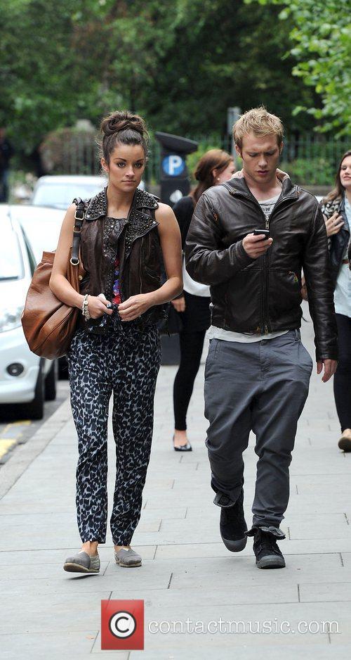 Chris Fountain with his girlfriend Jessica Derrick 'Coronation...