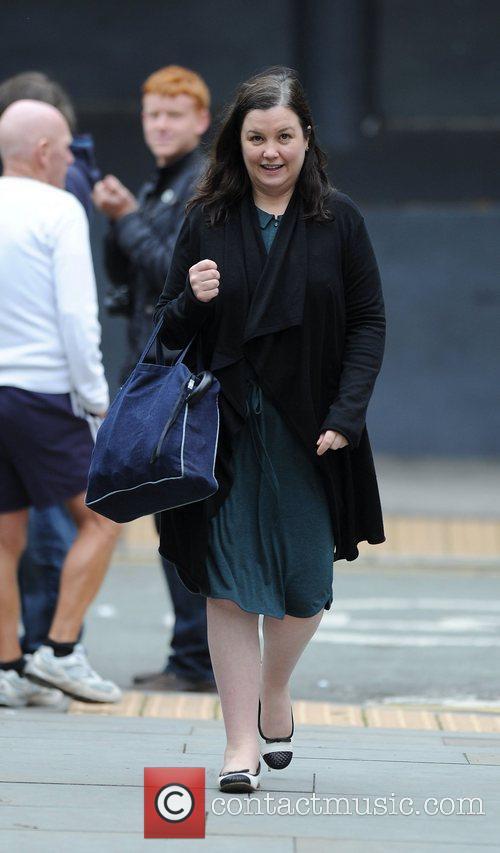 Pattie Claire 'Coronation Street' actors outside Granada Studios...