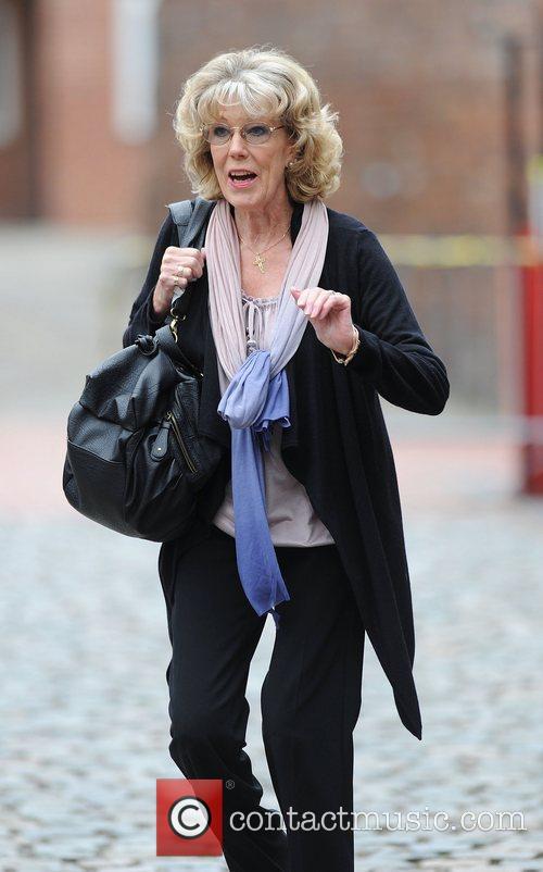 Sue Nicholls 'Coronation Street' actors outside Granada Studios...