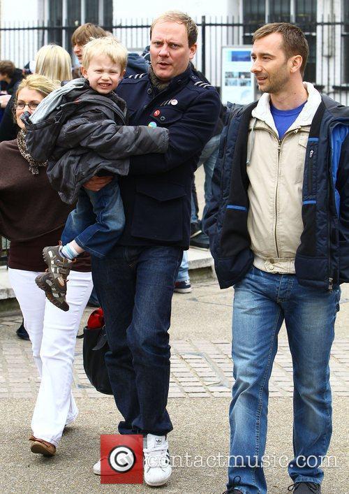 Film scenes for 'Coronation Street' on London's Southbank