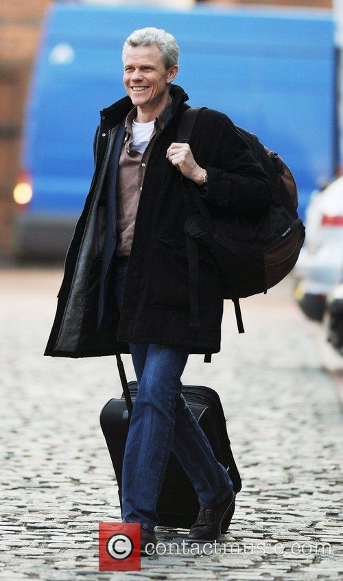 Andrew Hall arrives at Granada Studios to film...