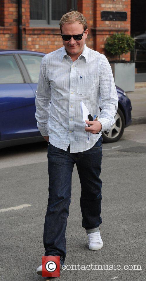 Antony Cotton arrives at Granada Studios to film...