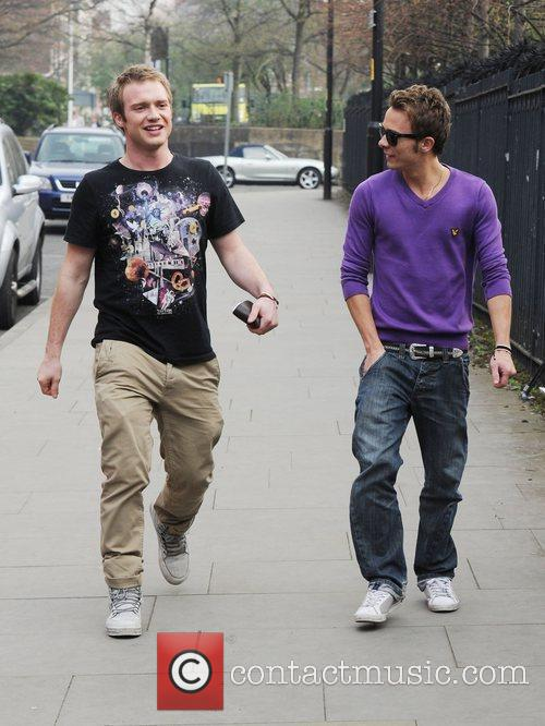 Chris Fountain and Jack P. Shepherd arrives at...