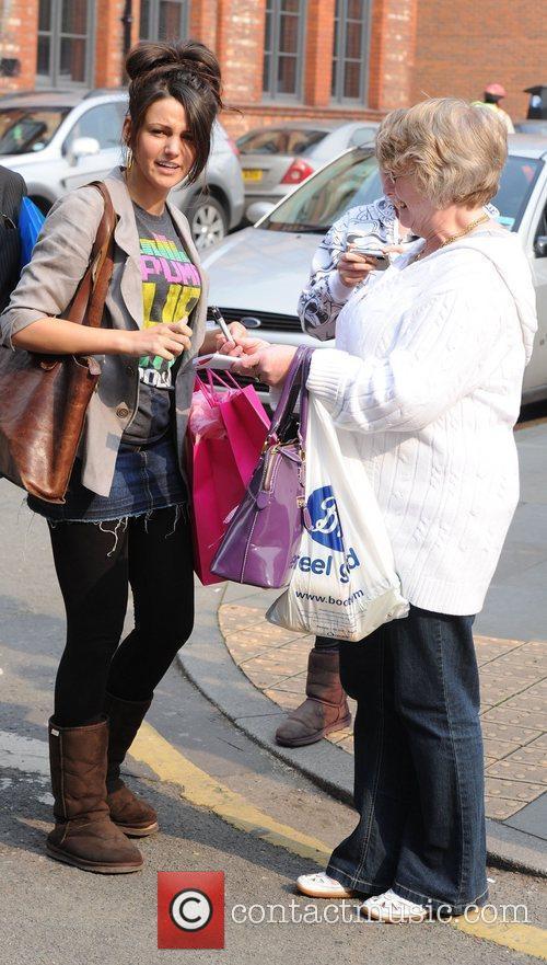 Michelle Keegan arrives at Granada Studios to film...