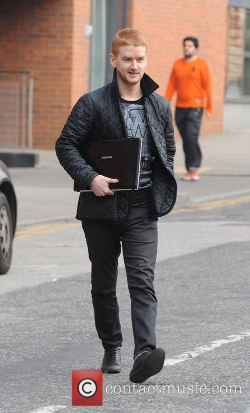 Mikey North arrives at Granada Studios to film...