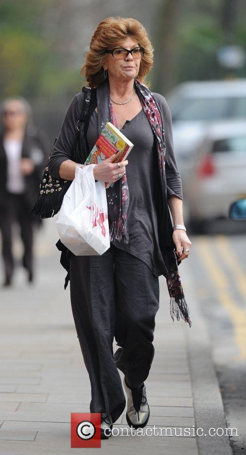 Rula Lenska arrives at Granada Studios to film...