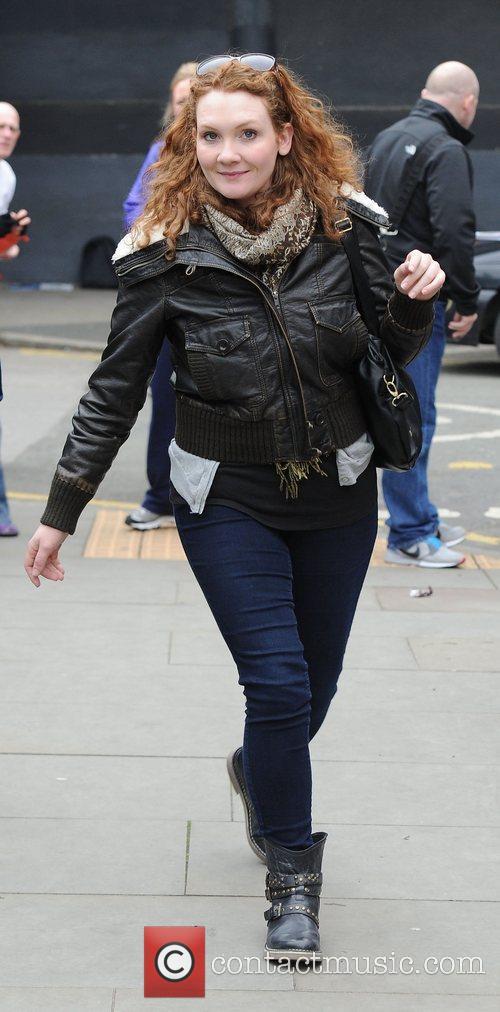 Jenny McAlpine,  at Granada Studios to film...