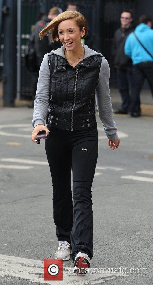 Lucy-Jo Hudson,  at Granada Studios to film...
