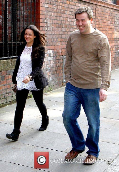Katy Armstrong arrives at Granada Studios to film...