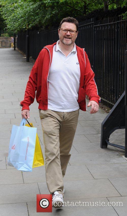 Ian Pulson Davies  outside the Granada Studios...