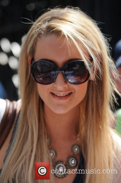 Catherine Tyldesley arrives at Granada Studio's Manchester