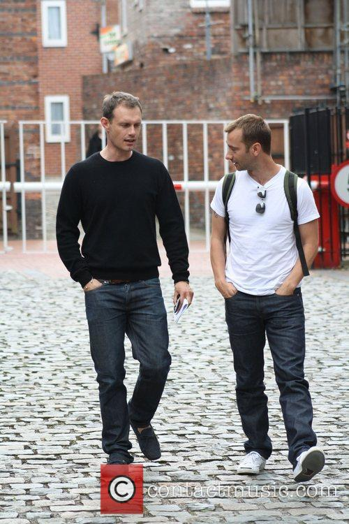 Ben Price Coronation Street cast members leave the...