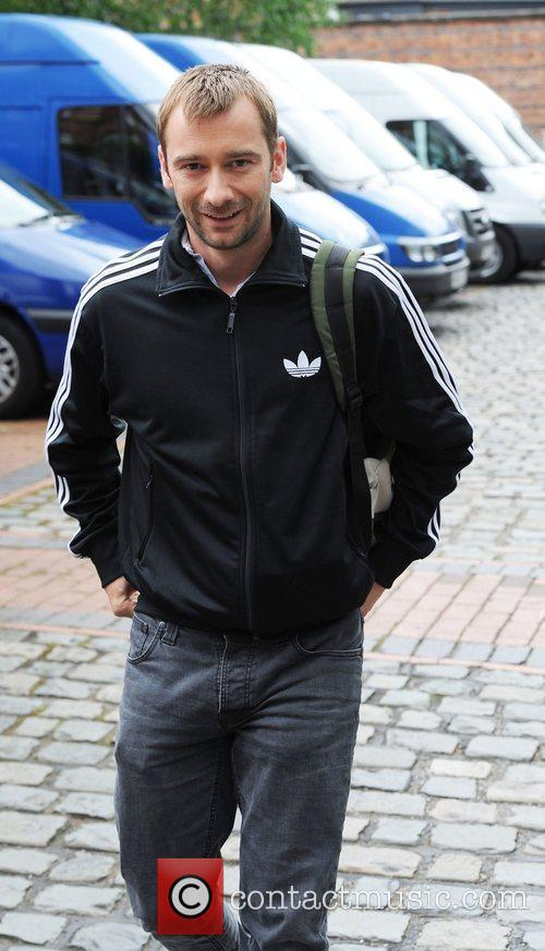 Charlie Condu  arrives at the Coronation Street...