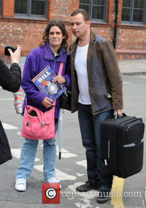 Andrew Lancel arrives at the Coronation Street Set...