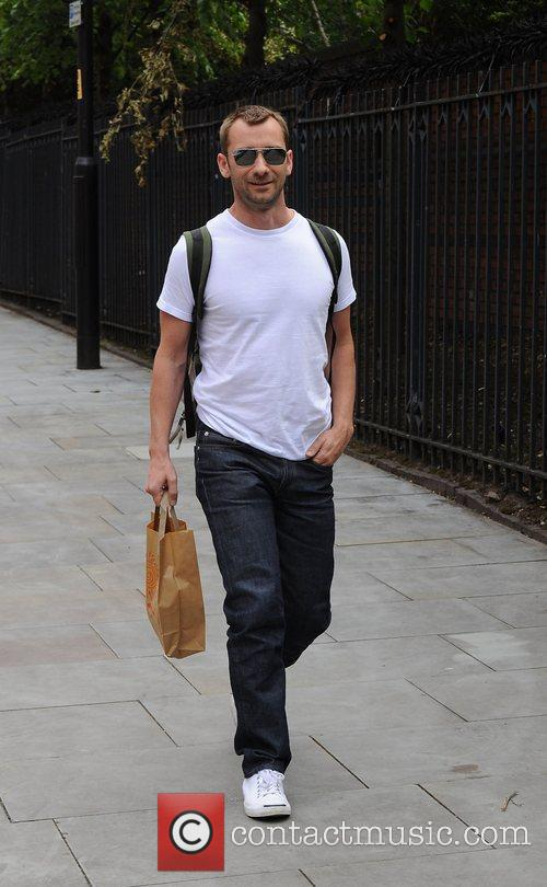 Charlie Condou arrives at Granada studio's Manchester