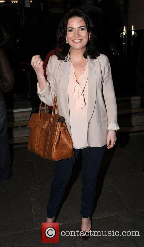 Debbie Rush at the press night of 'Corrie!...