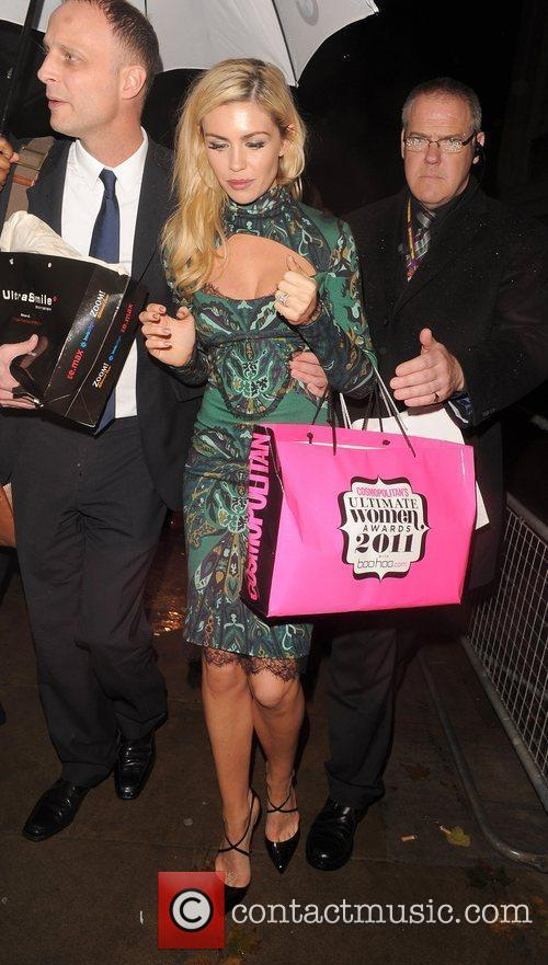 Abbey Clancy leaving the Cosmopolitan Awards 2011. London,...